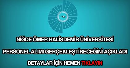 Ömer Halisdemir Üniversitesi personel alımı