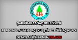 Şarkikaraağaç Belediyesi personel alımı
