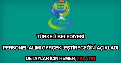 Türkeli Belediyesi personel alımı
