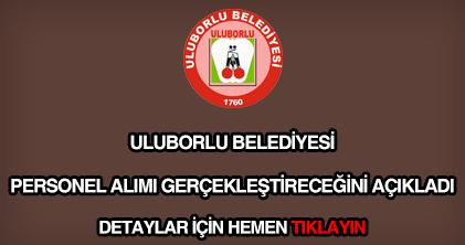 Uluborlu Belediyesi personel alımı