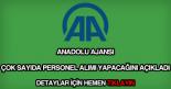 Anadolu Ajansı personel alımı