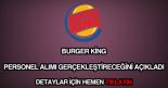 Burger King personel alımı