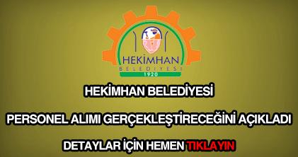 Hekimhan Belediyesi personel alımı