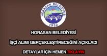 Horasan Belediyesi işçi alımı