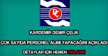 Kardemir Demir Çelik Fabrikası iş ilanları