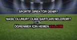 Sportif direktör nedir?