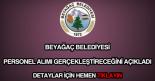 Beyağaç Belediyesi personel alımı