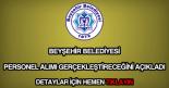 Beyşehir Belediyesi personel alımı