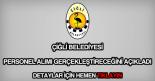 Çiğli Belediyesi personel alımı