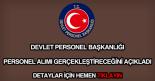 Devlet Personel Başkanlığı personel alımı