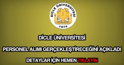 Dicle Üniversitesi personel alımı