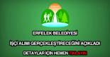 Erfelek Belediyesi işçi alımı