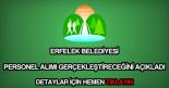Erfelek Belediyesi personel alımı