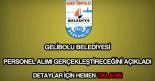 Gelibolu Belediyesi personel alımı