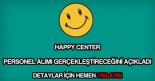 Happy Center personel alımı