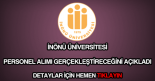 İnönü Üniversitesi personel alımı
