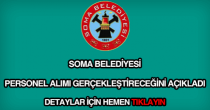 Soma Belediyesi personel alımı