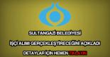 Sultangazi Belediyesi işçi alımı