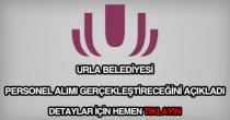 Urla Belediyesi personel alımı