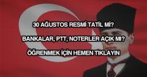 30 Ağustos Resmi Tatil Mi?