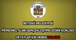 Beydağ Belediyesi personel alımı
