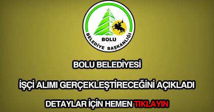 Bolu Belediyesi işçi alımı
