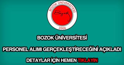 Bozok Üniversitesi personel alımı