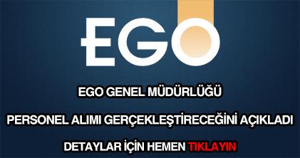 EGO Genel Müdürlüğü personel alımı