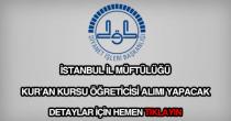 İstanbul İl Müftülüğü kuran kursu öğreticisi alımı