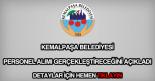 Kemalpaşa Belediyesi personel alımı