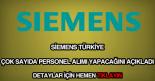 Siemens personel alımı