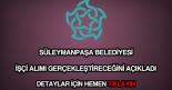 Süleymanpaşa Belediyesi işçi alımı