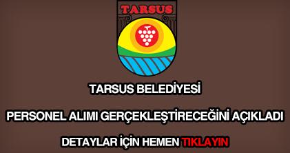 Tarsus Belediyesi personel alımı