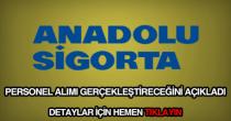 Anadolu Sigorta personel alımı