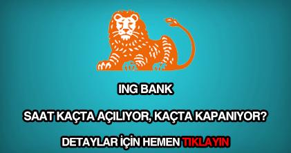 İNG Bank çalışma saatleri