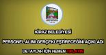 Kiraz Belediyesi personel alımı