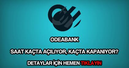 Odebank çalışma saatleri