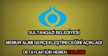 Sultangazi Belediyesi memur alımı