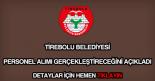 Tirebolu Belediyesi personel alımı