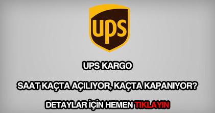 UPS kargo çalışma saatleri