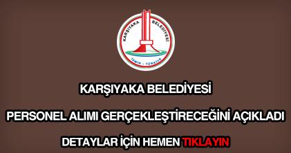 Karşıyaka Belediyesi personel alımı
