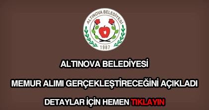Altınova Belediyesi memur alımı