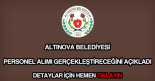 Altınova Belediyesi personel alımı