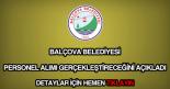 Balçova Belediyesi personel alımı