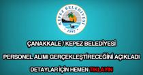 Çanakkale Kepez Belediyesi personel alımı