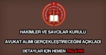 Hakimler ve Savcılar Kurulu avukat alımı