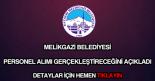 Melikgazi Belediyesi personel alımı