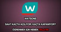 Watsons çalışma saatleri
