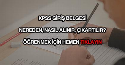 KPSS sınav giriş belgesi alma