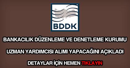BDDK uzman yardımcısı alımı